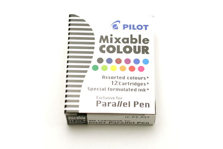 Pilot Parallel Calligraphy Pen Refill 12 Colors Assorted