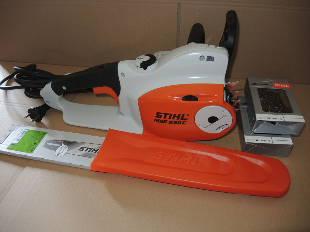 stihl elektros ge kettens ge mse 230 c bq 2x s geketten neu ebay. Black Bedroom Furniture Sets. Home Design Ideas