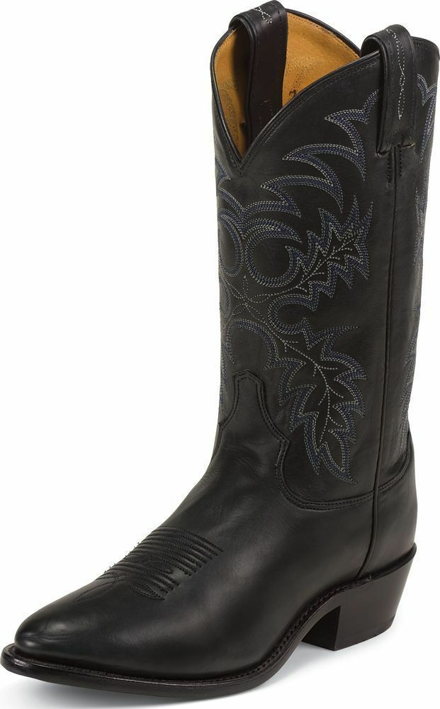 Tony Lama Men S Black Stallion Americana Western Boot Made