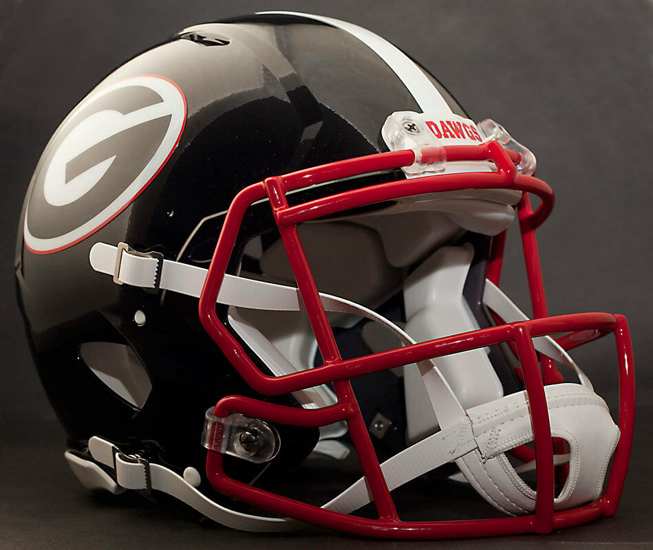 georgia bulldog helmets georgia bulldogs uga ncaa riddell revolution speed 3445