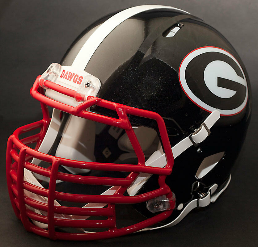 georgia bulldog helmets custom georgia bulldogs uga ncaa riddell speed replica 285