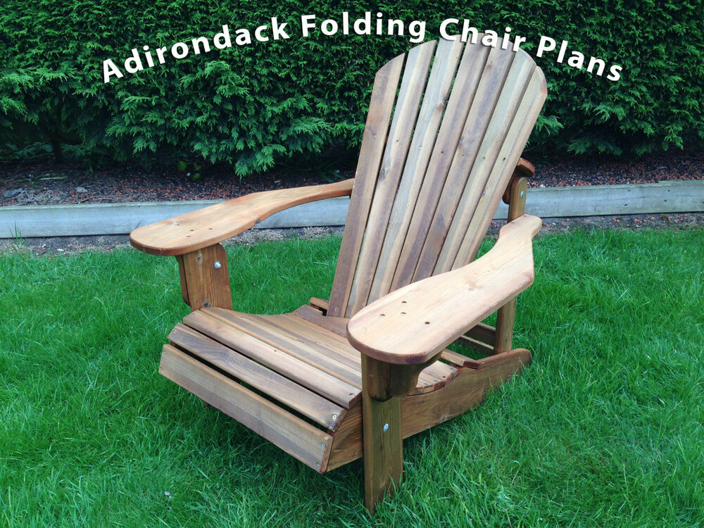 Adirondack Folding Chair plans Alfresco Furniture