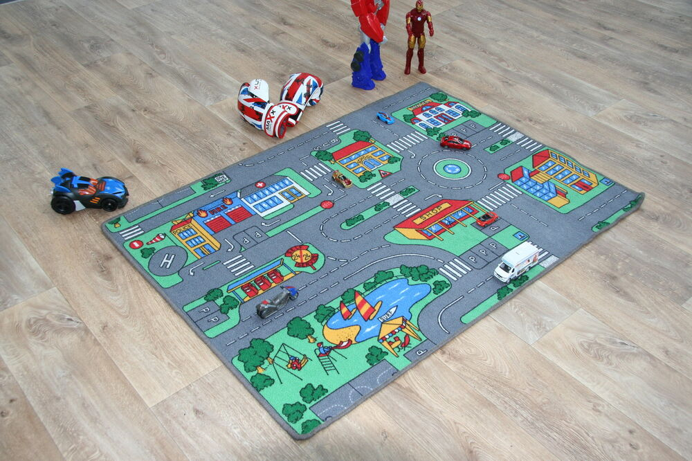 Children S Highway Roads Kids Car Racing Track Rug Play