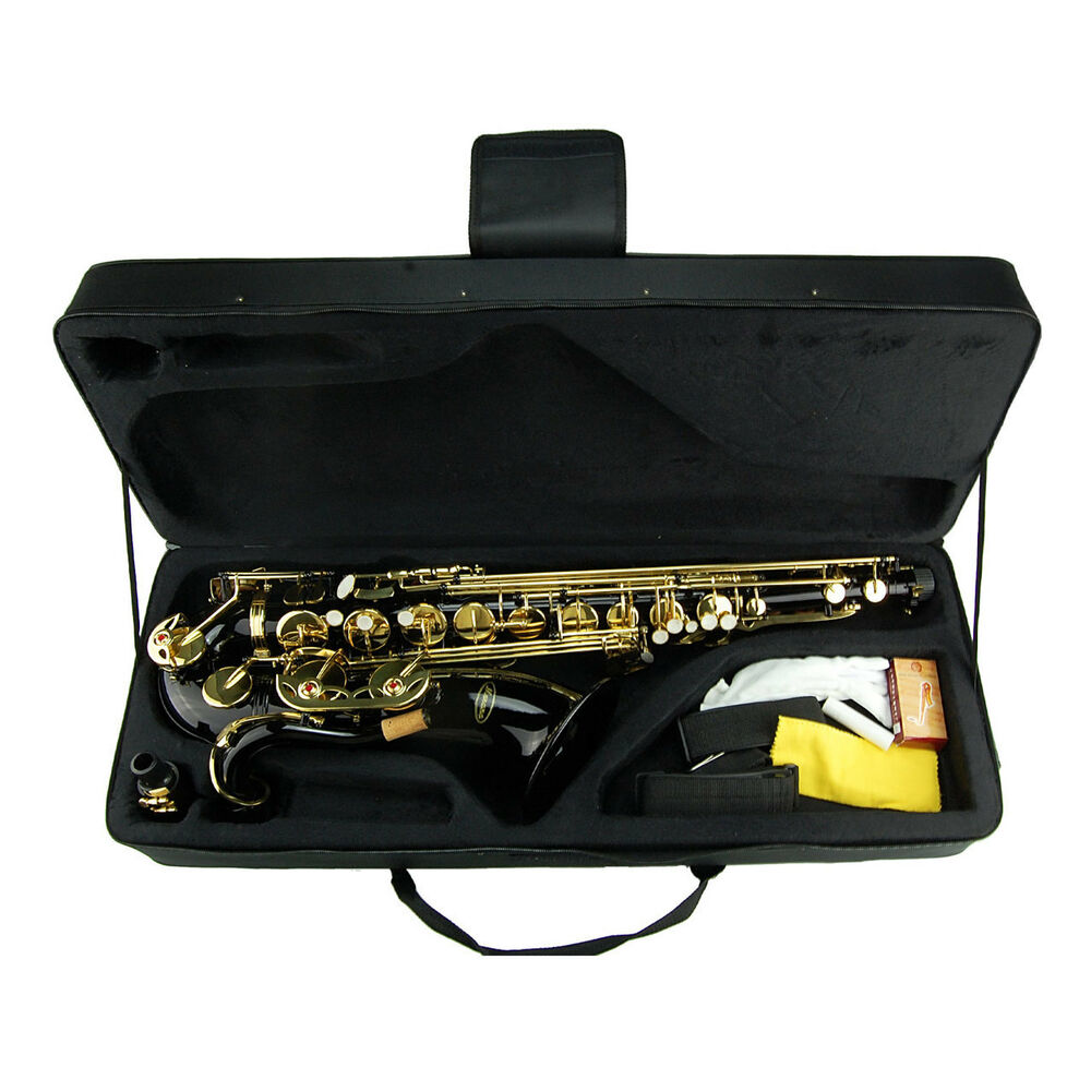 new merano bb black gold tenor saxophone with hard case extra 10 reeds ebay. Black Bedroom Furniture Sets. Home Design Ideas