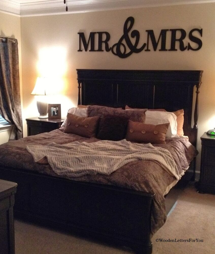 Mr mrs wood letters wall d cor painted wood letters - Decoraciones para dormitorios ...
