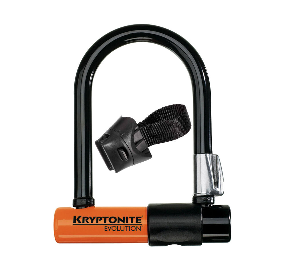 new kryptonite evolution series 4 mini 5 bicycle u lock w flex bracket ebay. Black Bedroom Furniture Sets. Home Design Ideas