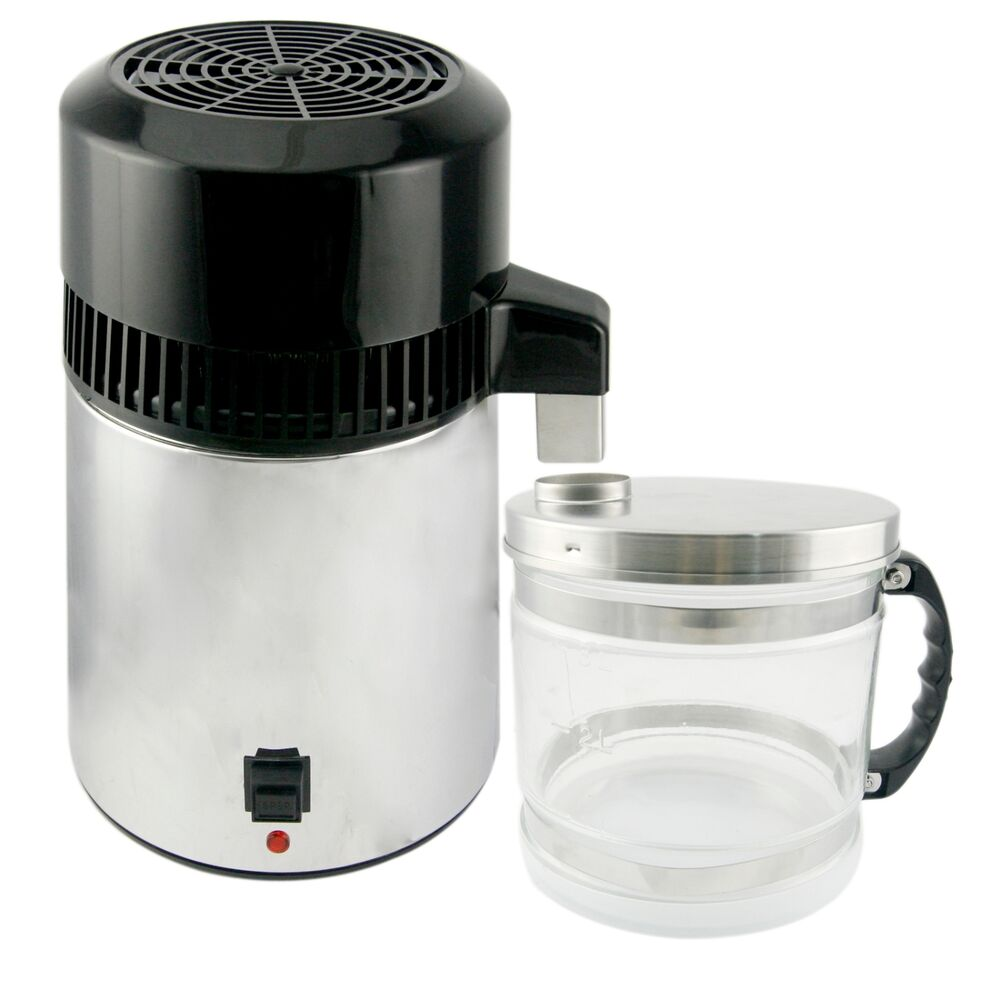 Stainless Steel Water Distiller ~ New l pure water distiller purifier stainless steel