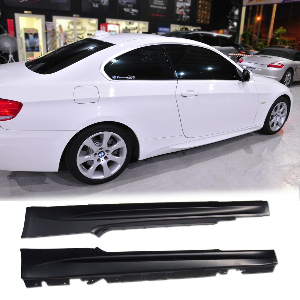 bmw e92 m3 coupe e93 m3 07 11 side skirts 320i 323i 325i. Black Bedroom Furniture Sets. Home Design Ideas