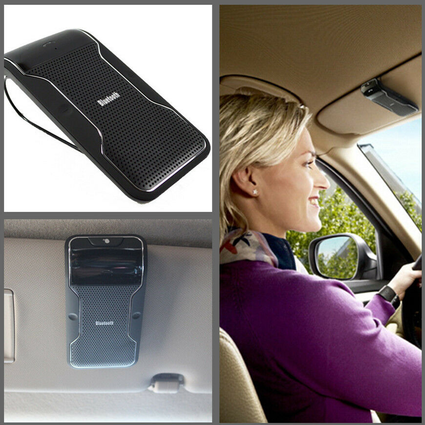 Sun Visor Clip Car Hands Free Wireless Bluetooth Phone