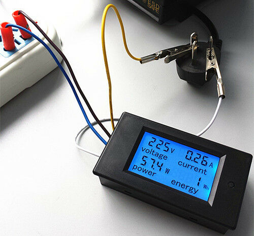Ac Power Meter : Ac a power meters monitor volt amp kwh watt digital