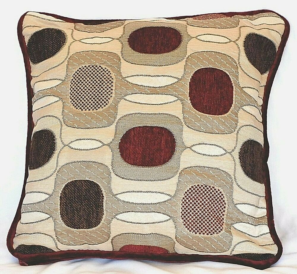 Contemporary Decorative Pillows: Contemporary Modern Red Decorative Pillow Geometric Square