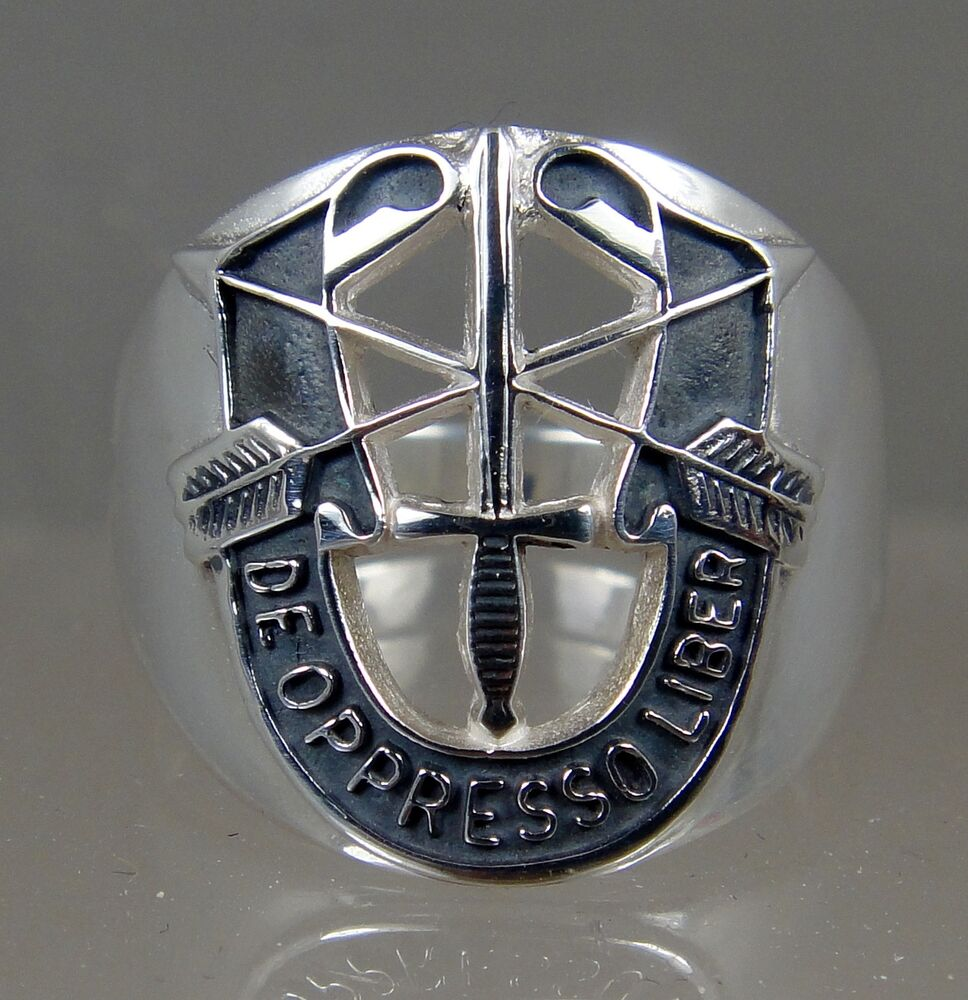 us army sterling ring jewelry special forces mens de