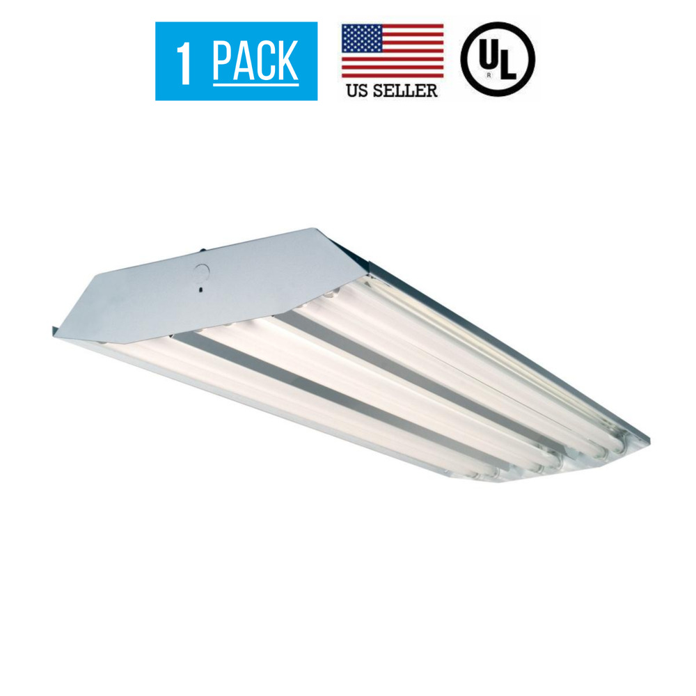 4 Bulb Lamp T8 Led High Bay Warehouse Shop Garage: 6 Lamp T8 Fluorescent High Bay Light Fixture Shop