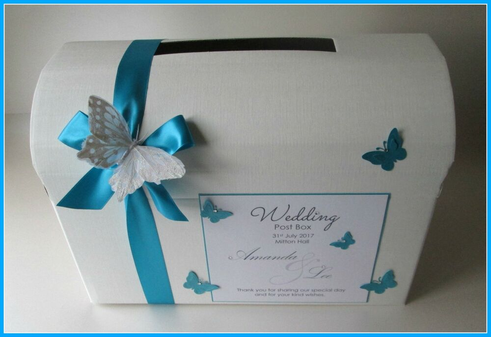 Butterfly Wedding Gift Card Box : Personalised Butterfly Wedding Card Chest/ Post Box. Any Colour ...