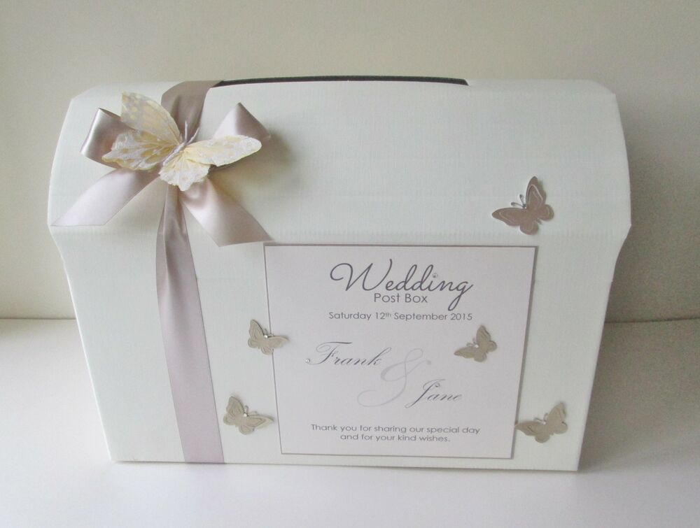 Wedding Gift Post Box: Personalised Butterfly Wedding Card Chest/ Post Box