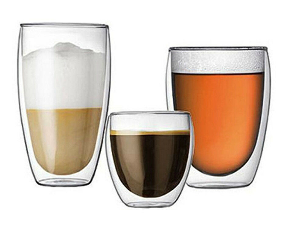 Bodum Assam Double Wall Glass Coffee Cup Heat Resistant