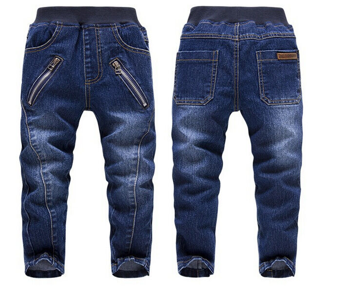 Kids Boys Fashion Long Trousers Zipper Denim Pants Casual ...