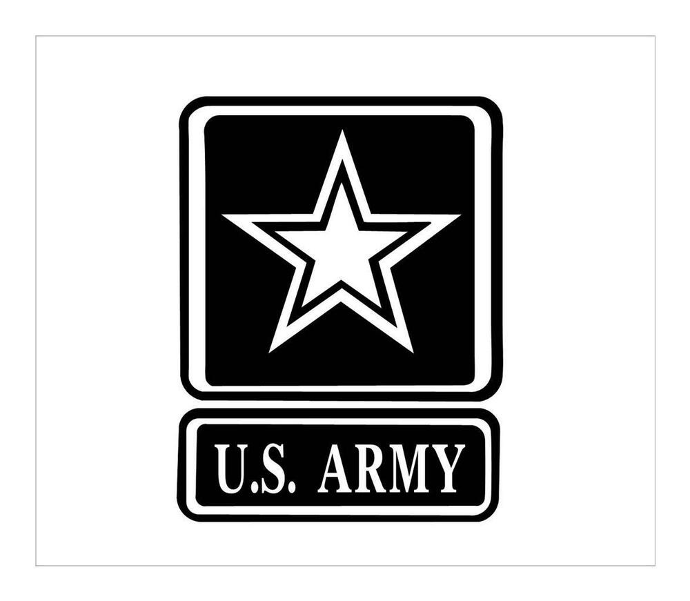 Details about us army star 4x6 army of one support army vinyl car truck window decal sticker