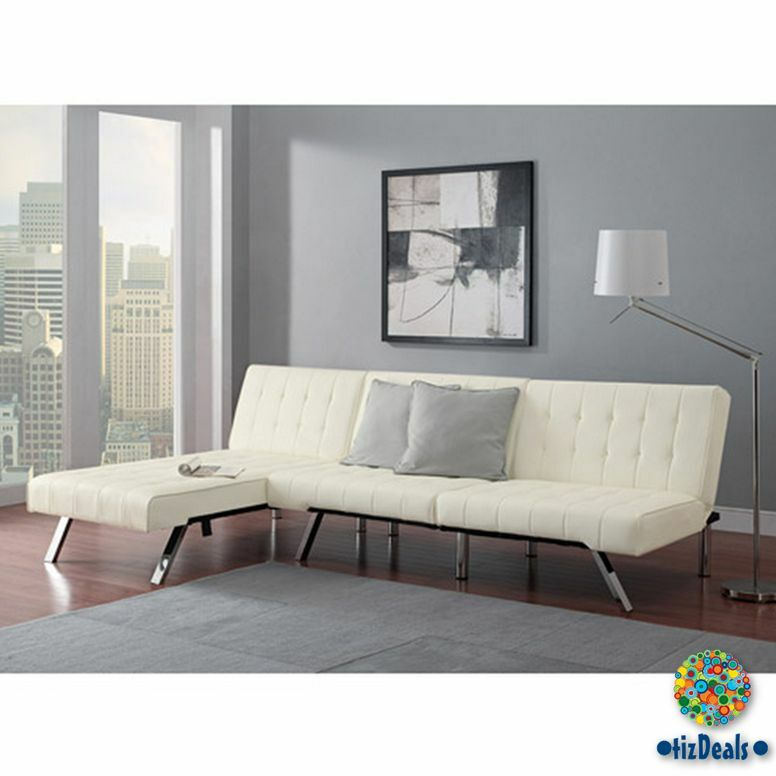 Futon And Chaise Lounger 2 Pc Set Sofa Couch Sleeper Bed