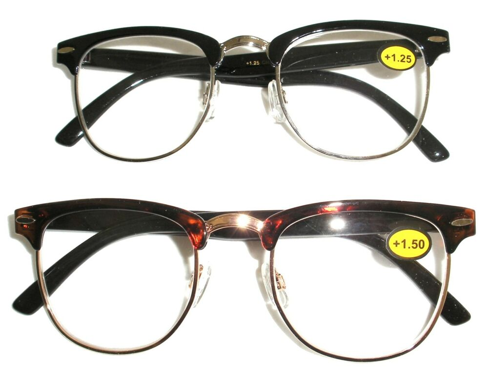 browline hornrim style vintage reading glasses cheaters