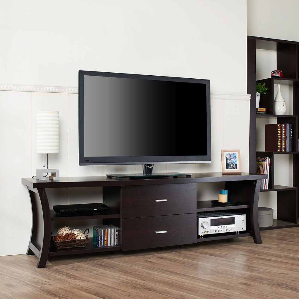 "Modern 72"" TV Stand Media Entertainment Center Home"