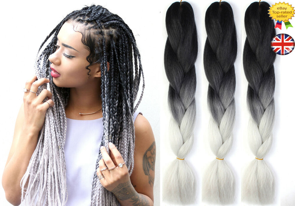 two tone hair styles 24 quot ombre two tone dip dye synthetic braiding hair 4647