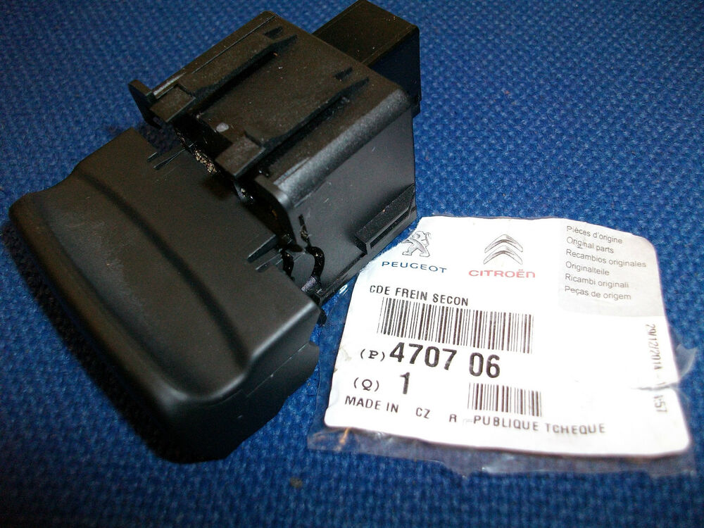 peugeot elecric hand brake switch genuine 470706 ebay. Black Bedroom Furniture Sets. Home Design Ideas