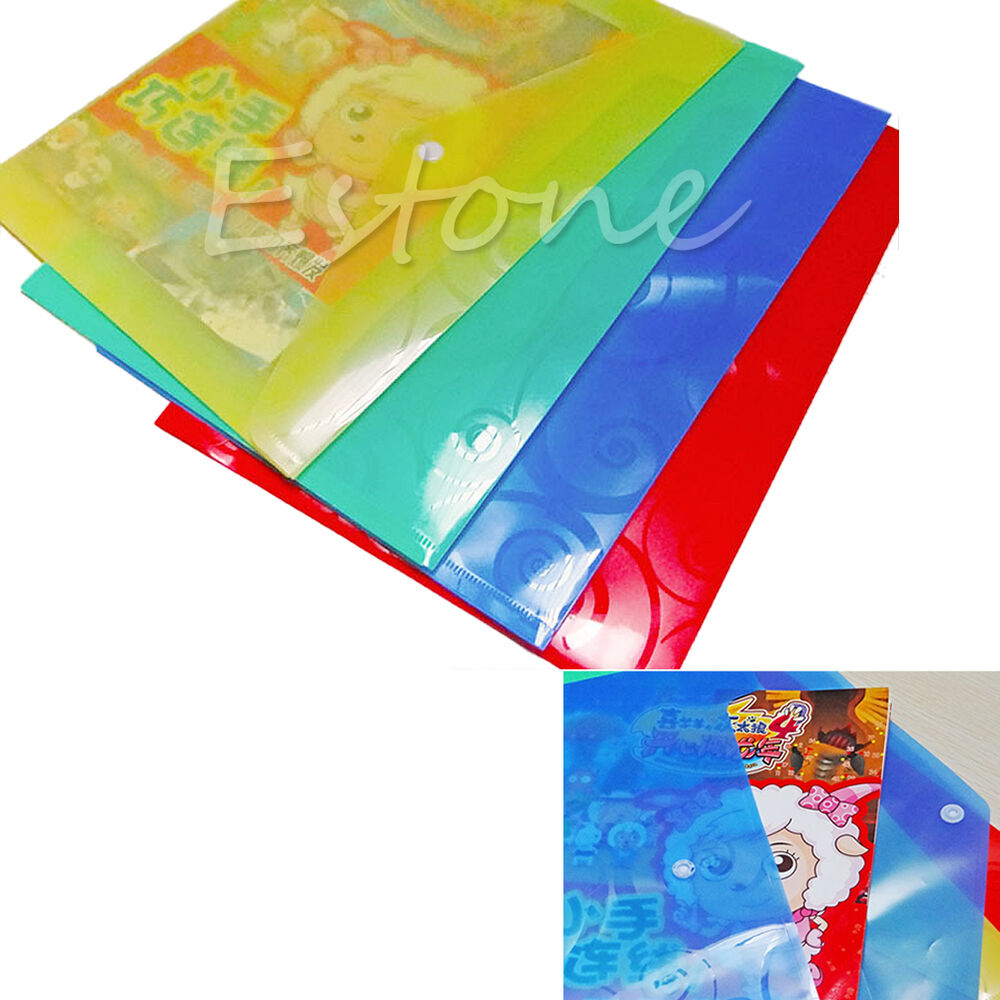 1pc Colorful Plastic Paper File Folder Cover Holder