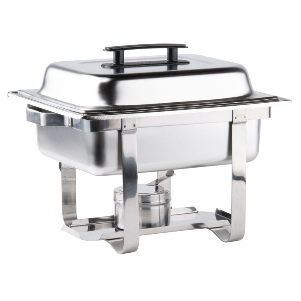 premier 4 qt half size stainless steel chafer with bonus rebate ebay. Black Bedroom Furniture Sets. Home Design Ideas