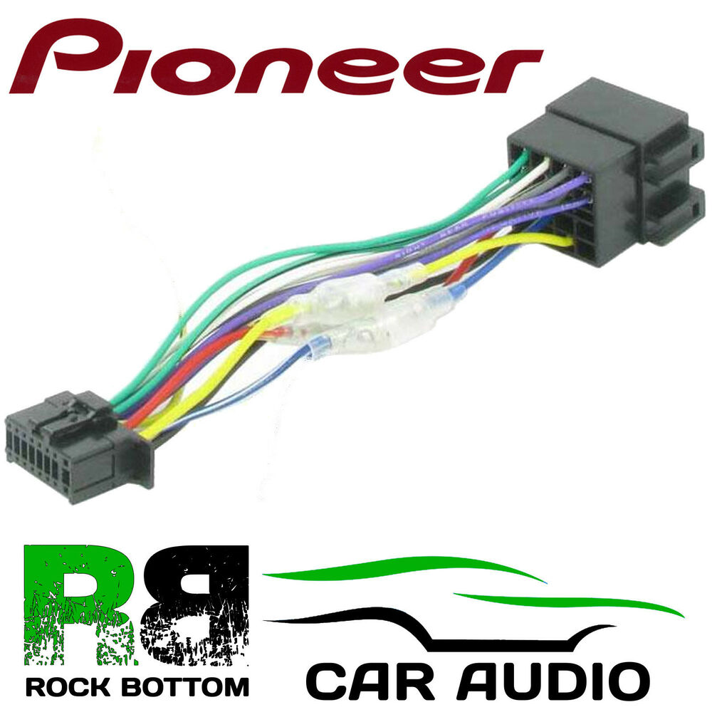 pioneer mvh 350bt model car radio stereo 16 pin wiring harness loom iso lead ebay