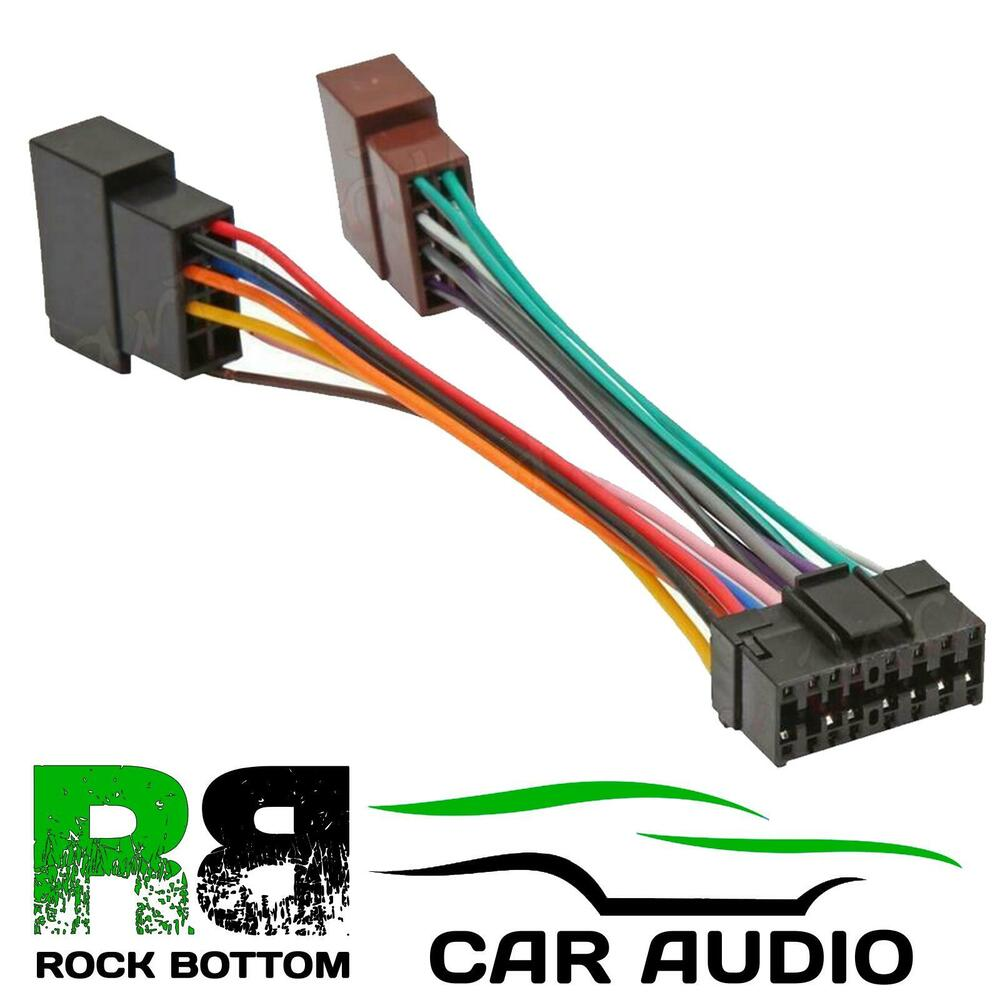 s l1000 sony cdx dab700u car radio stereo 16 pin wiring harness loom iso sony cdx gt270mp wiring diagram at gsmx.co