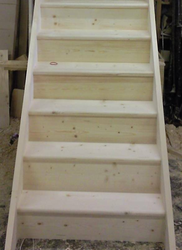 Made To Measure Straight Wooden Solid Pine Kit Form Staircase Assembled EBay