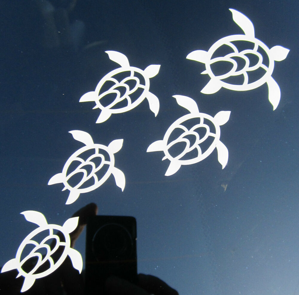 Honu Sea Turtles Family Nautical Vinyl Decal Sticker