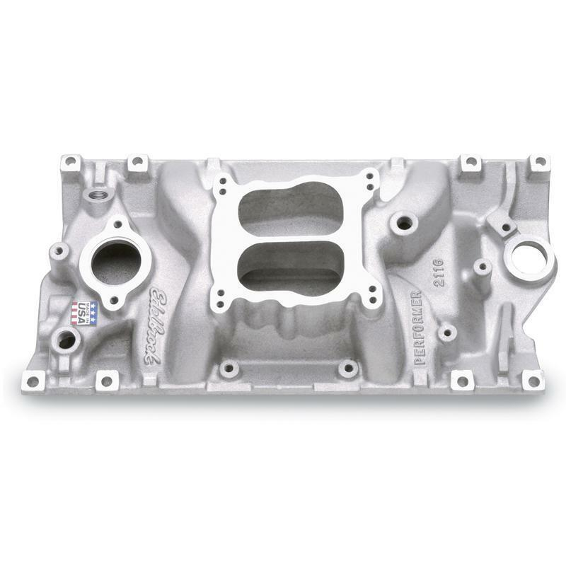 Edelbrock Intake Manifold 2116; Performer Satin For Chevy