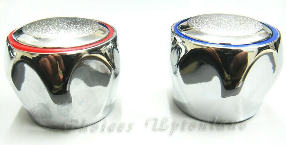 Replacement Hot Amp Cold Tap Top Head Covers Chrome Plated