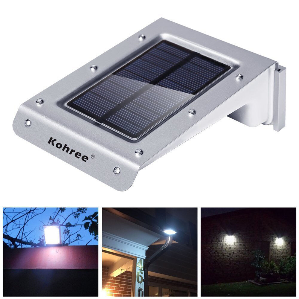 Kohree 20 led solar powered motion sensor outdoor light for Led yard lights