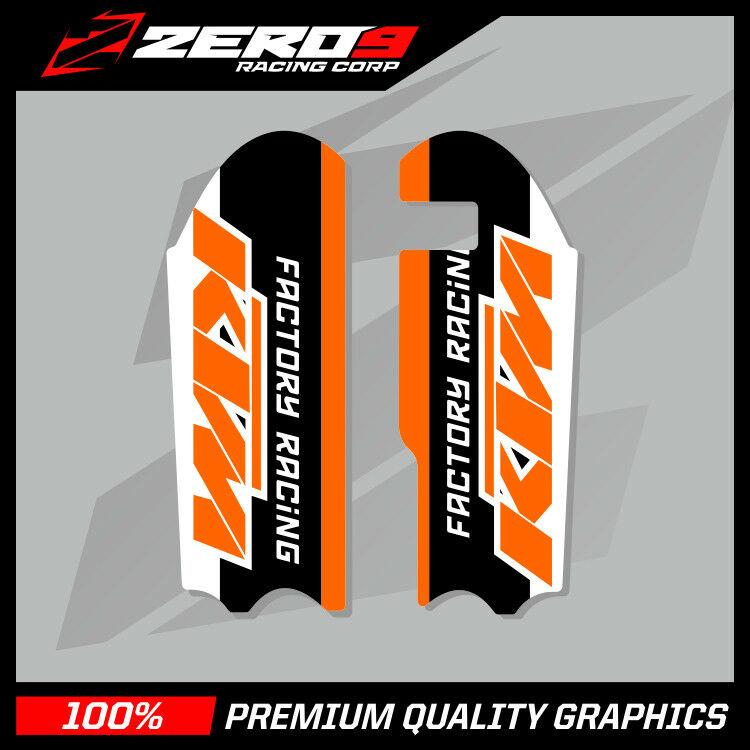 KTM SX 50 2013-2019 SX 65 2009-2019 MOTOCROSS GRAPHICS MX GRAPHICS LOWER FORK FR