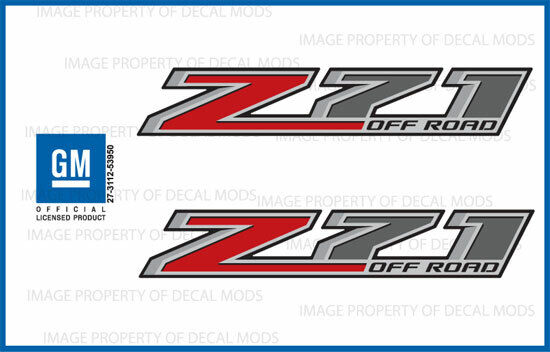 Chevy Silverado 2500 4x4 >> 2 - 2015 Z71 Off Road Decals - F stickers Parts Chevy Silverado GMC Sierra 4x4 | eBay