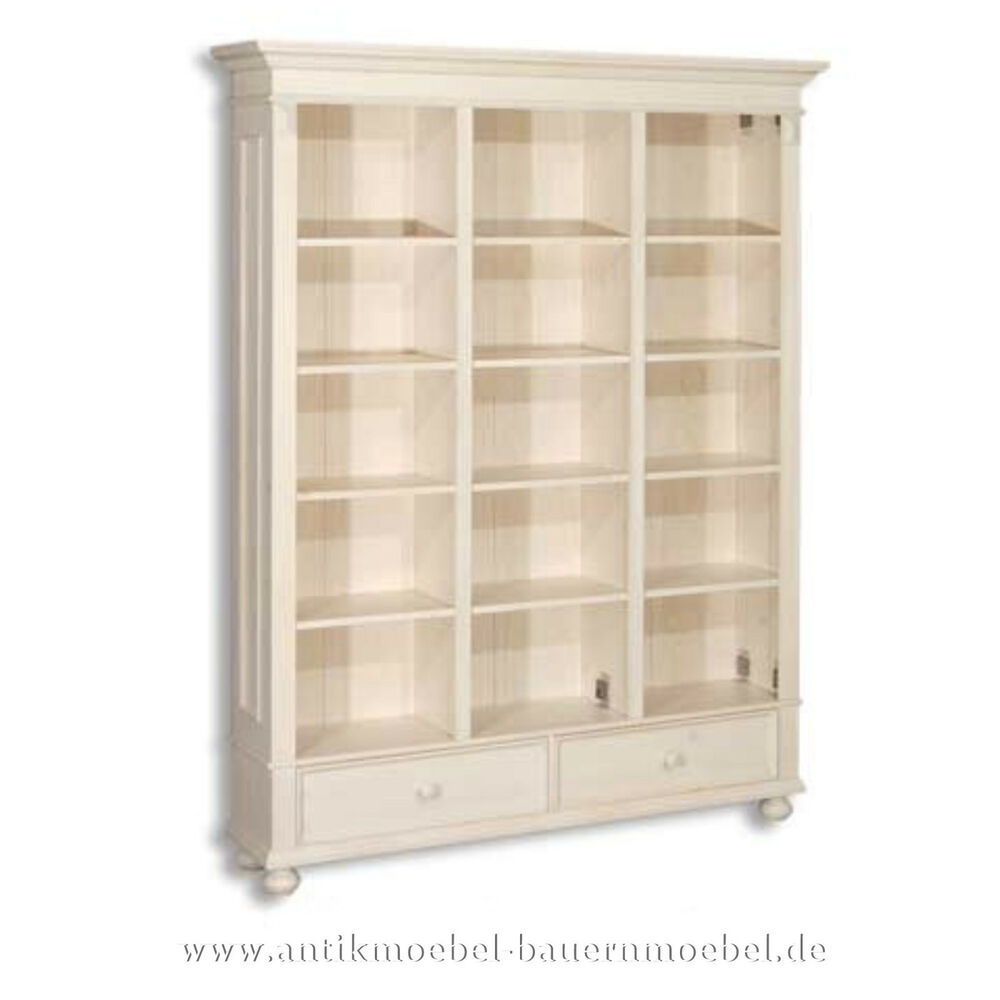 Bücherregal,Bücherschrank,Regalwand,Regal,Landhausstil  ~ Bücherregal Weis
