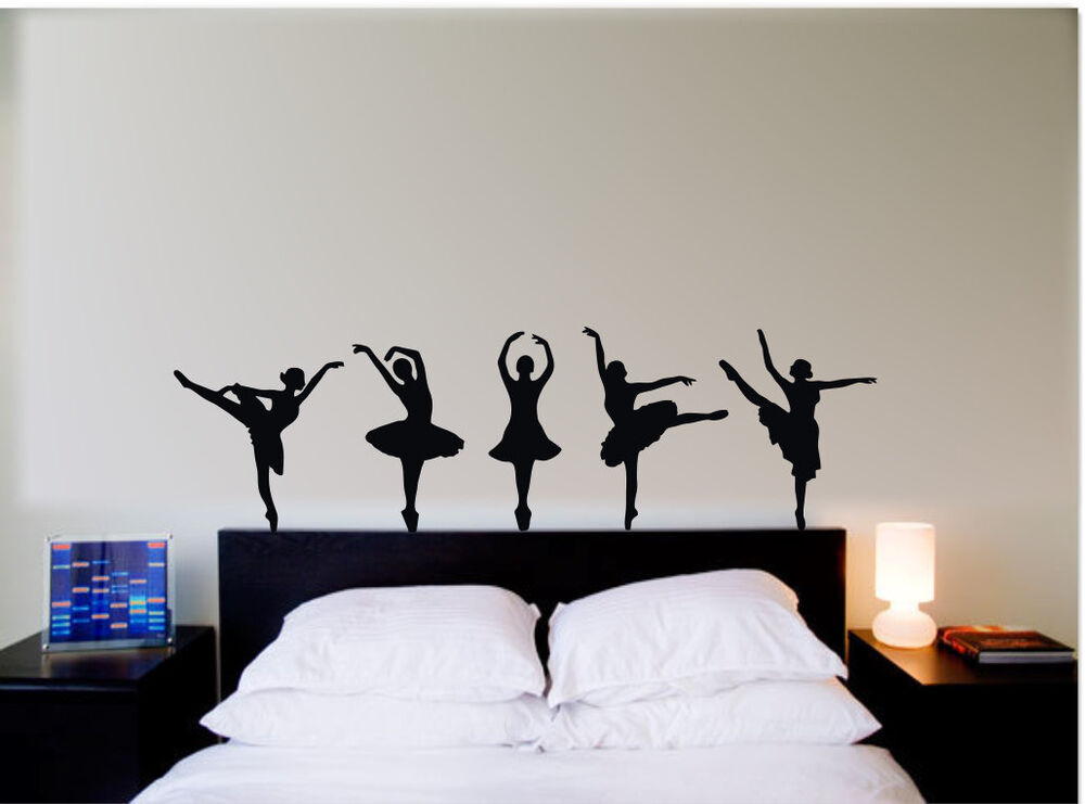 Ballet Dancers Silhouette Wall Art Vinly Stickers