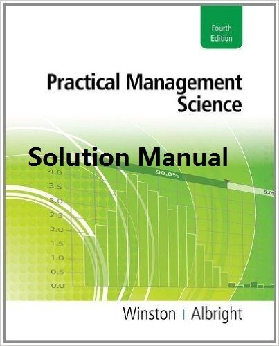 Solution Manual For Management Science