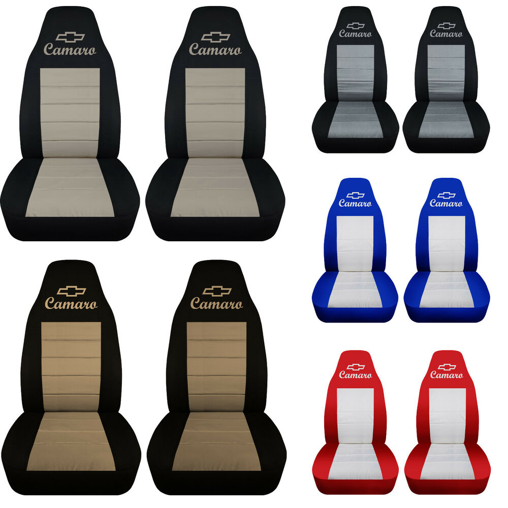 cc 1982 2002 chevrolet camaro front set car seat covers color choice iroc z 28 ebay. Black Bedroom Furniture Sets. Home Design Ideas