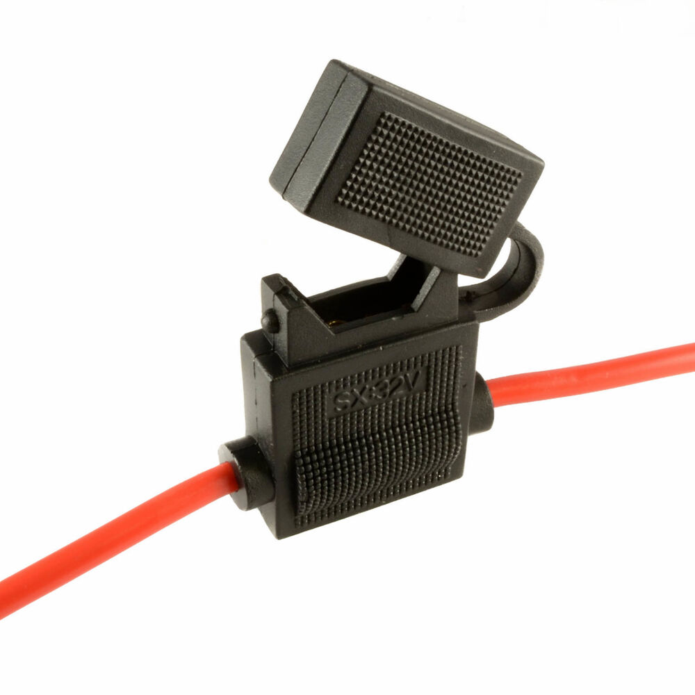 5 X In-line Standard Blade Fuse Holder Splash Proof For