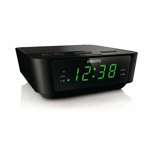new philips digital tuning alarm clock radio with dual alarm ebay. Black Bedroom Furniture Sets. Home Design Ideas