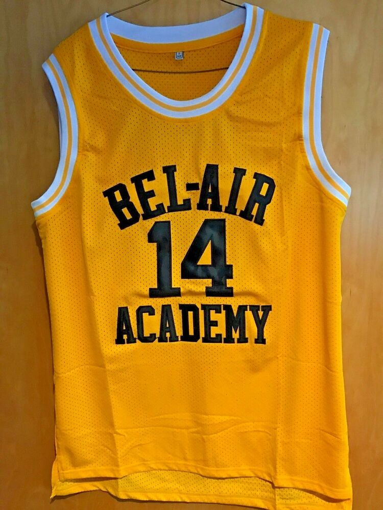 a64f51b86c1f Details about Will Smith  14 The Fresh Prince Of Bel-Air Basketball Jersey  Sewn Gold w  Black