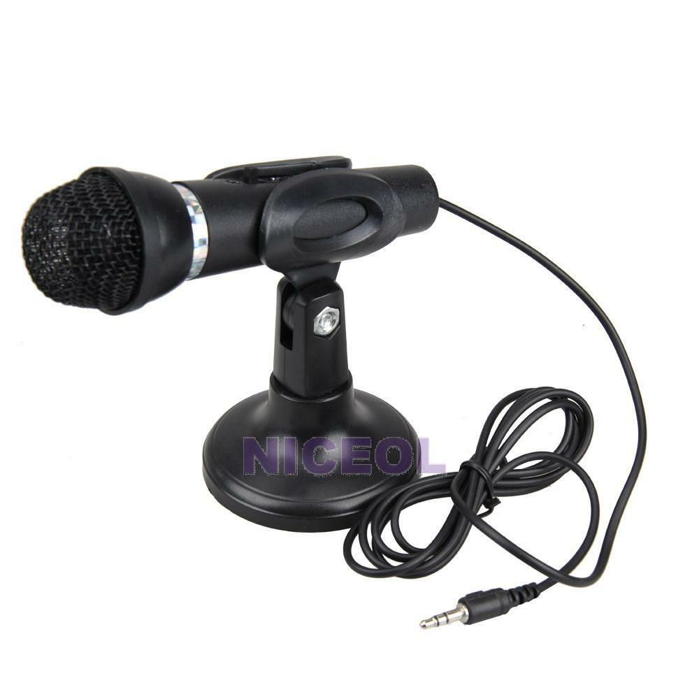 Microphone For Computer Desktop : Portable mini dynamic microphone mic for pc desktop