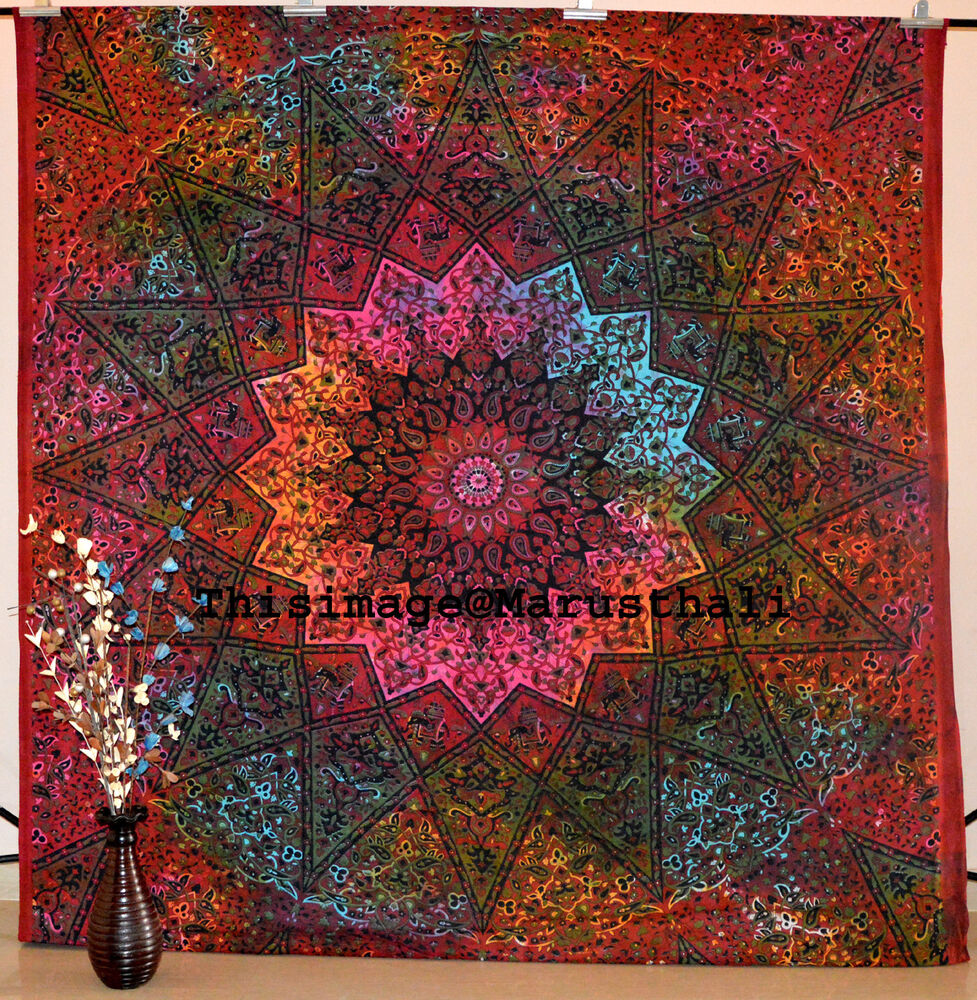 Indian Tie Dye Hippie Mandala Psychedelic Wall Hanging