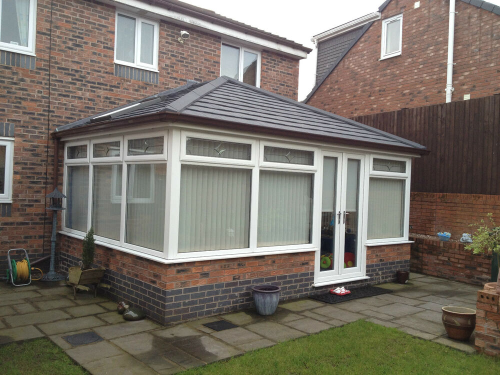 Complete sunroom with ecotile tiled roof frames modular for Modular sunroom