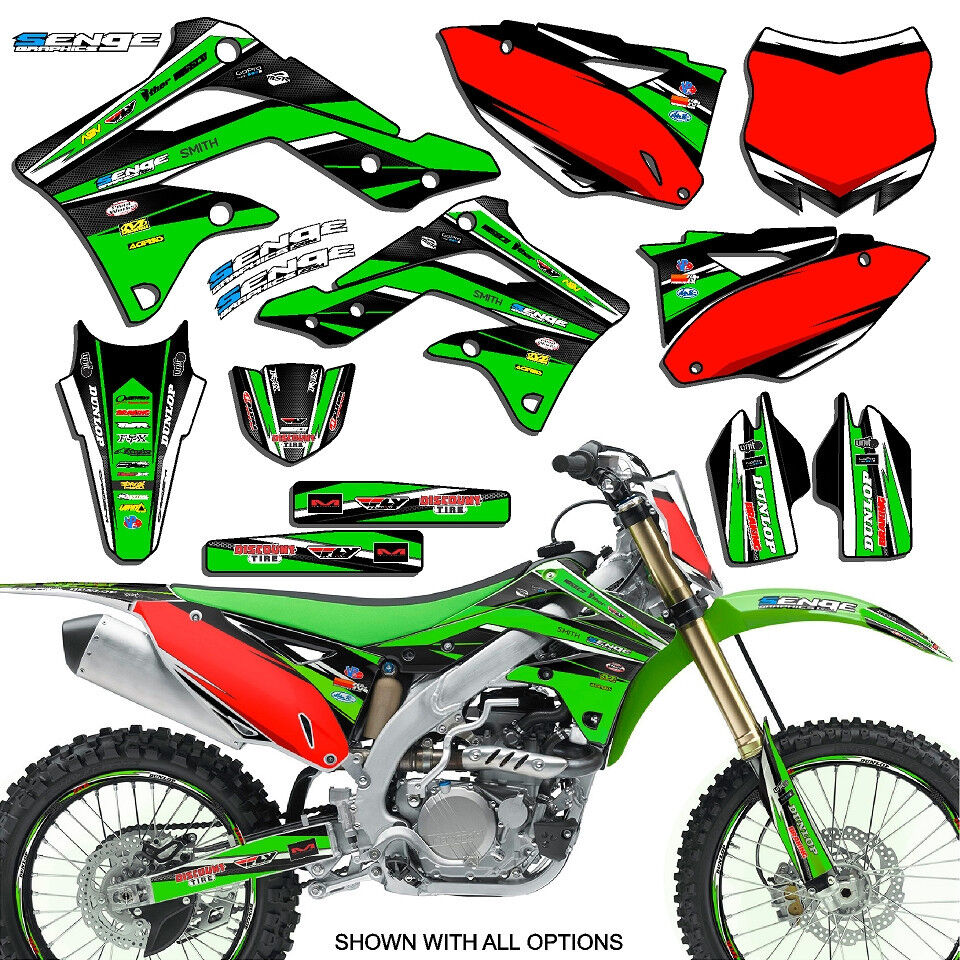 2004 2005 kxf 250 graphics kit kawasaki kx250f kx f 250f deco decals stickers ebay