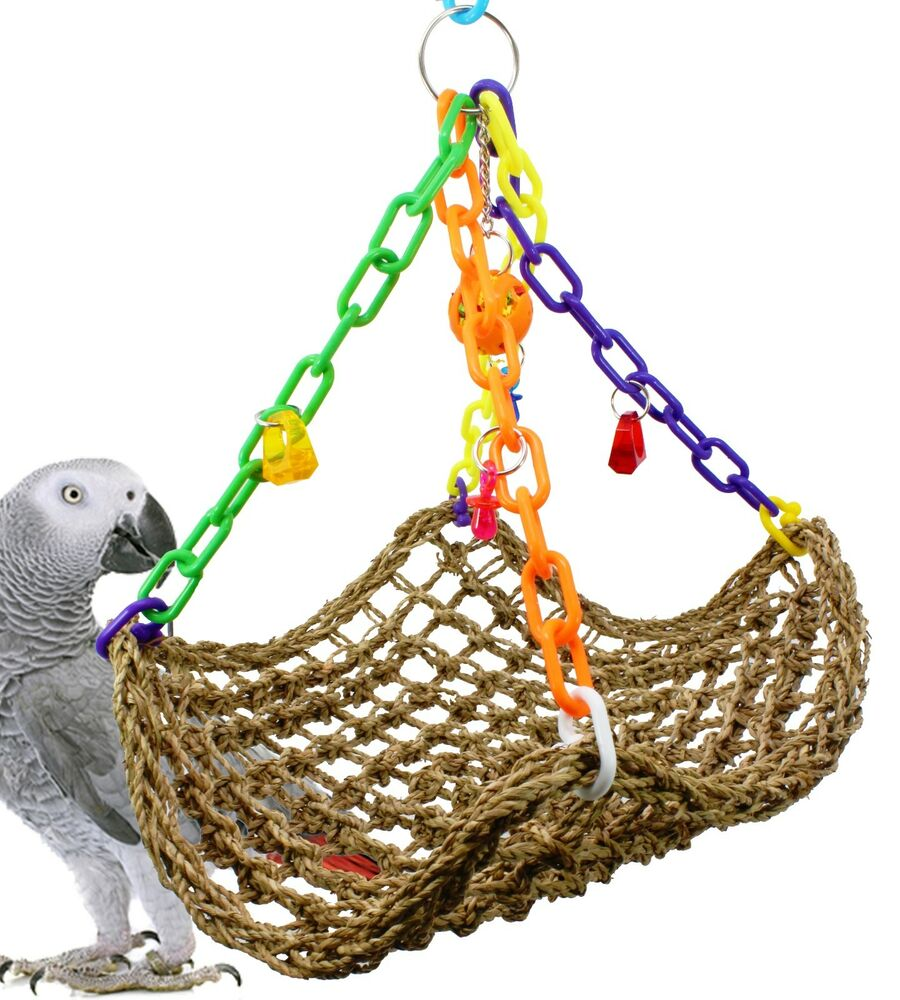 Bird Cage Toys : Large platform swing bird toy parrot cage toys cages